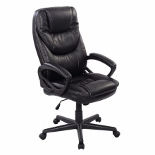 Goplus Black PU Leather High Back Office Chair New Task Ergonomic Computer Desk Chairs Swivel Lifting Gaming Chair HW50414