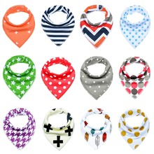 12pcs Unisex Baby Bandana Drool Bibs Adjustable Snaps for Drooling and Teething 100%Cotton Gift Set Useful Accessories