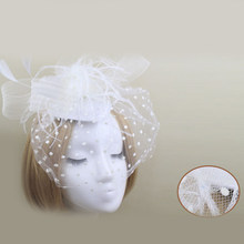 Las niñas arco dulce de red y velo sombrero boda fiesta pelo Clip tocado  flor sombreros accesorios de vestido 2937044814e8