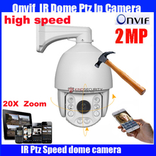 7 inch HD-IP high Speed Dome Camera Onvif 1080P 2 Megapixel 20X optical zoom Network IP PTZ camera medium speed dome camera