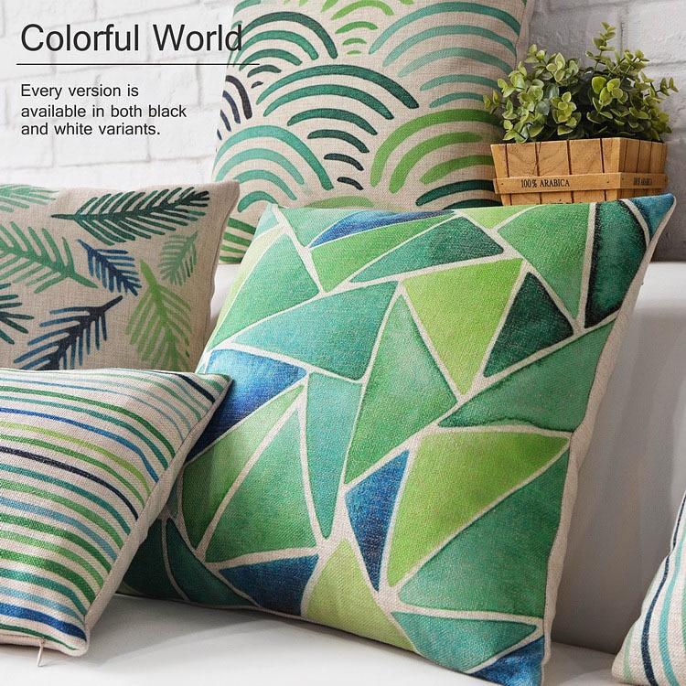 Cuscini Verdi Per Divano.Fresco Pastorale Verde Cuscino Cuscino Geometrico Cuscino