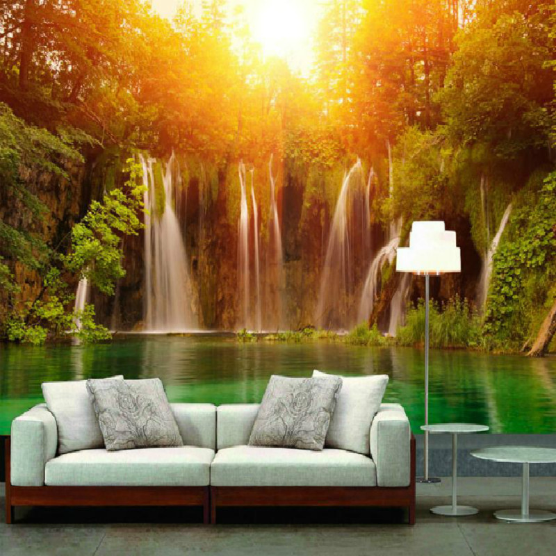 Scenery wallpaper for home stunning waterfall landscape for Wallpaper decoration for home