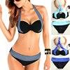 2016 Hot Bikini Women Triangle Push Up Bikini Set Bandeau Swimwear Padded Swimsuit Bra Beachwear Woman