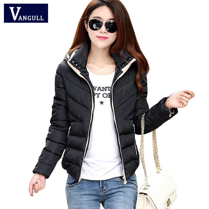New Parkas Jacket 2017 Women Autumn Winter Short Coats Solid Hooded Cotton Padded Warm Pockets Female Jacket Plus size Coats 2017 new autumn winter cotton coats women vintage print long hooded thickening cotton padded jacket warm overcoat plus size z162