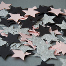 100pcs/pack Paper Confetti 3cm Round/Star/Heart Confetti Birthday Baby Shower DIY Cake Table Decoration Event Party Supplies