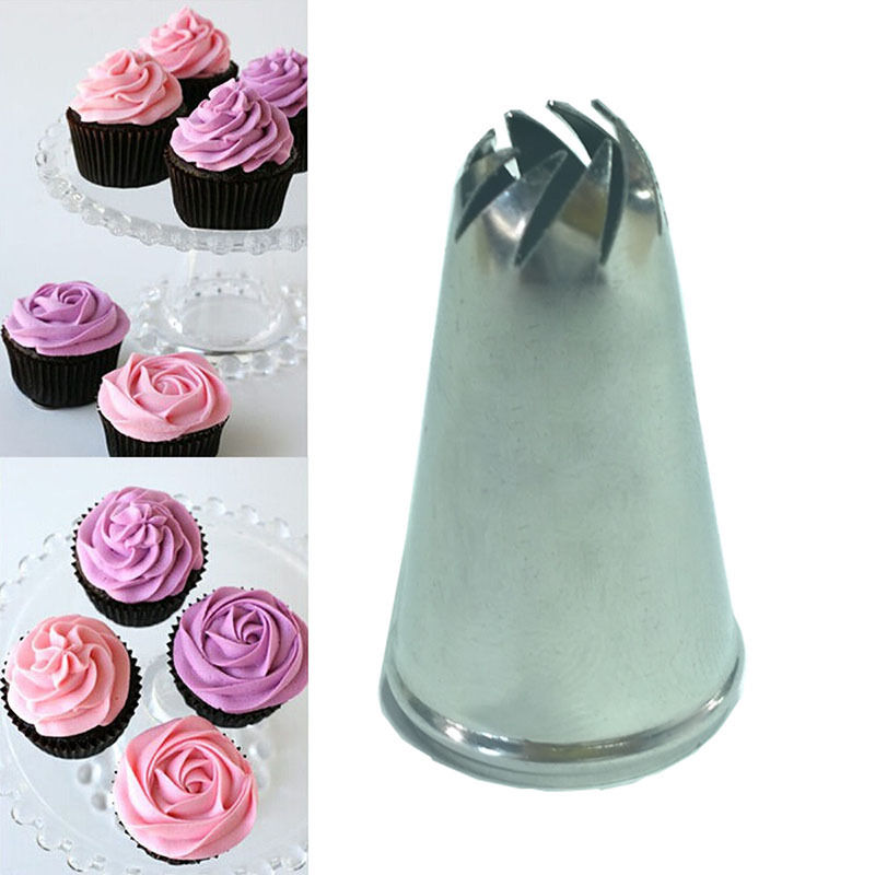 2017 Hot Sale 1 pc Stainless Steel Drop Flower Tips Cake Nozzle Cupcake Sugar Crafting Icing Piping Nozzles Pastry Tool
