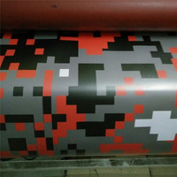 Rode Digitale Camouflage Vinyl Wrap Red Pixel Camo Auto Wrap Decal luchtbel Gratis Grootte: 1.52x30/25/20/15/10/5 m/Roll
