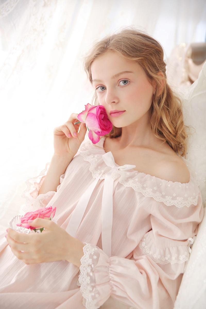 Renyugongzhu Hari Natal Putri Kostum Gadis Gaun Biru Daftar Harga Wanita Panjang Baju Pijamas Femininos Verao Royal Pakaian Tidur Katun 3 Warna Gratis Pengiriman