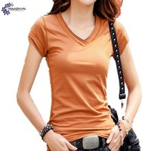 TNLNZHYN Summer Women clothing T-shirt 2017 new fashion big size sexy V-neck casual short-sleeved female tops T-shirt TT401