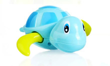 1pcs children bath toys Baby take a shower TOYS turtle clockwork for water on the chain of small animal toy vehicle