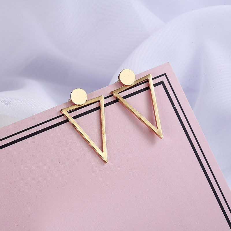 Simple Style Fashion Silver Gold Color Earrings for Women Square Round Geometric Hanging Earrings 18 Female Pendientes Jewelry 27