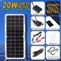 LEORY 14В 20 Вт 1 5a Водонепроницаемая солнечная панель  USB монокристаллическая солнечная панель с зарядным устройством для автомобиля  для наруж...