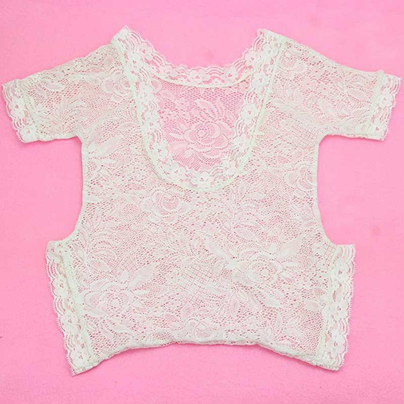 Yeni yumuşak yenidoğan bebek fotoğraf sahne bebek Romper moda dantel bebek bebek tulum beyaz siyah giysileri tulum MU984364