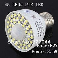 10 шт. белый/теплый белый E27 110 V 220 V 85 265 В 45 светодиоды пир переключатель датчик движения лампы детектор свет лампы