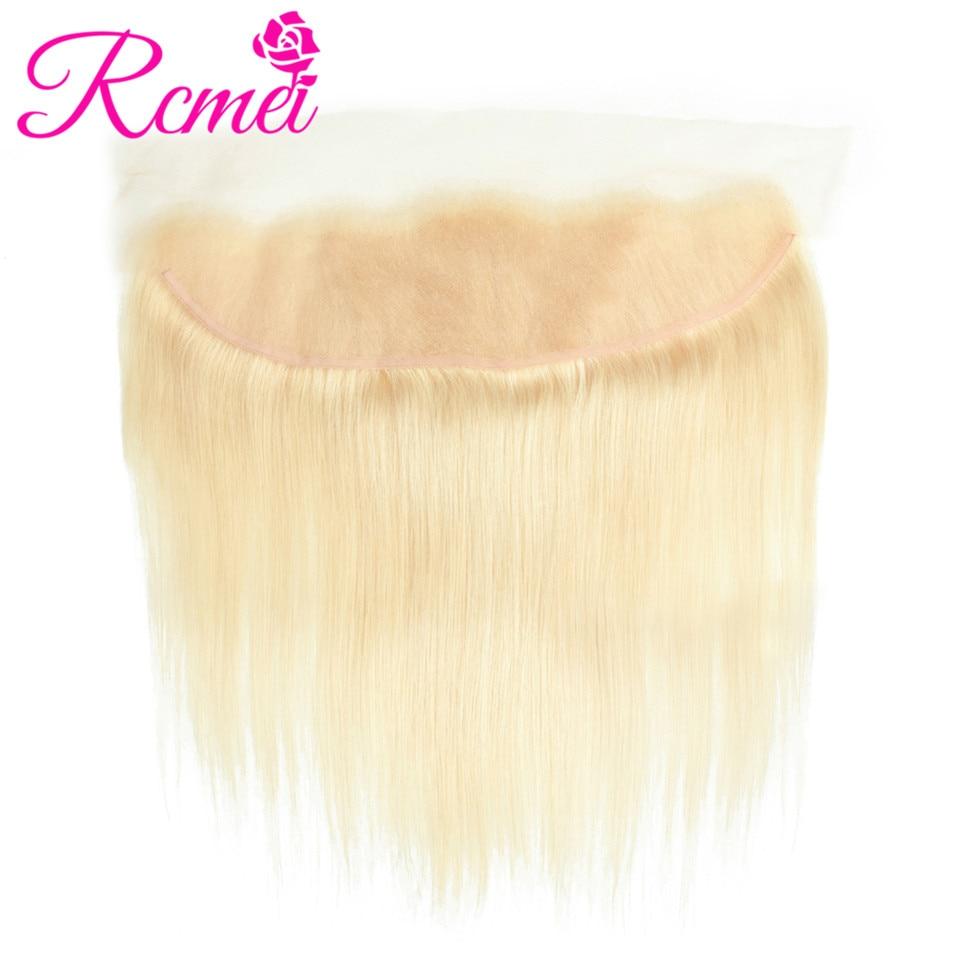 613 Blonde Bundles With Frontal Closure Brazilian Straight Hair Blonde Bundle Hair 4PCS Deal 8-30 Inch Long Length Hair Weaving