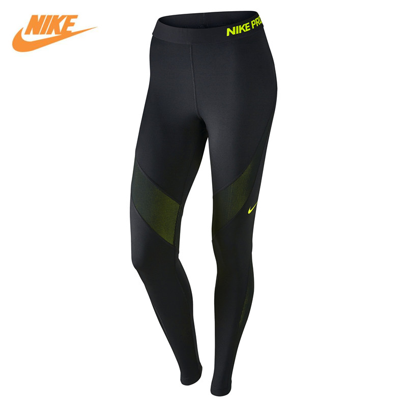 Nike Authentic Women Tight Elastic Breathable Training Black Pants 803095-010 брюки accelerate tight