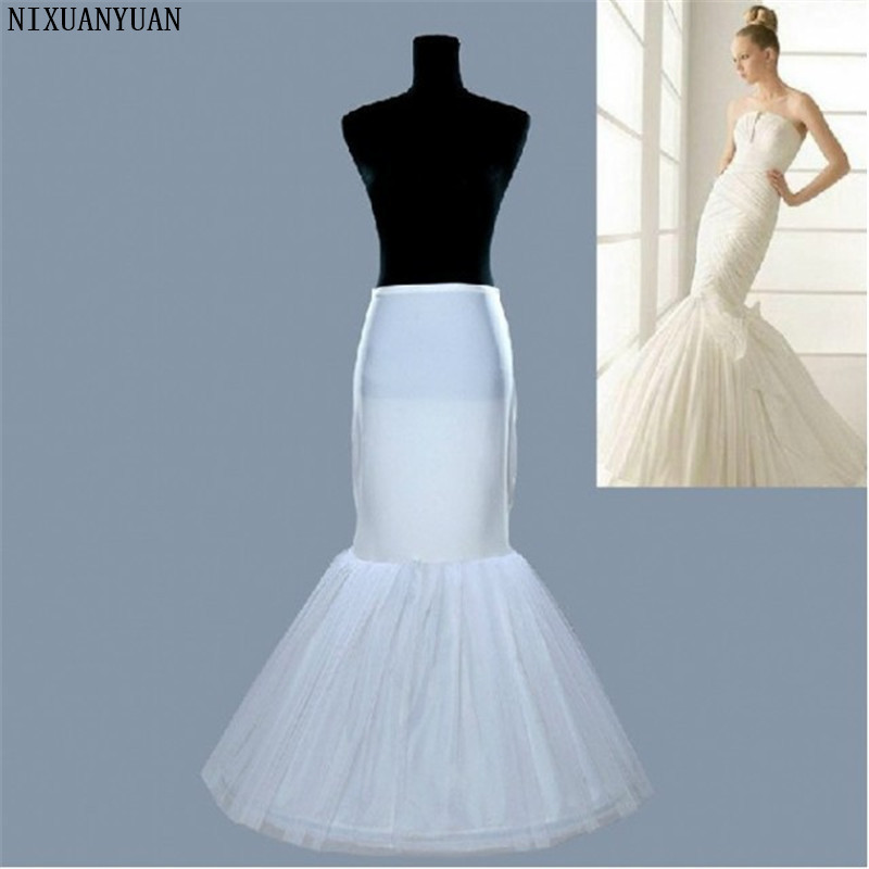 NIXUANYUAN New 2020 Cheap Free Shipping 100% High Quality White Tulle Mermaid Hot Selling Wedding Petticoat For Wedding Dress