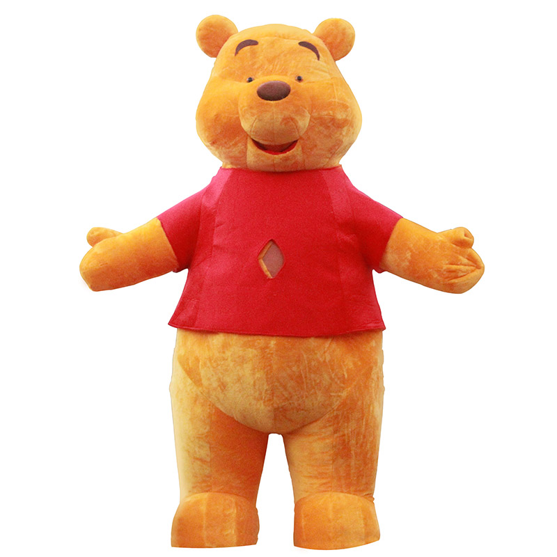 Winnie Bear Mascot Costume For Adult Inflatable Winnie Bear Costume Advertising For Wedding Customize 3M Tall Halloween Party