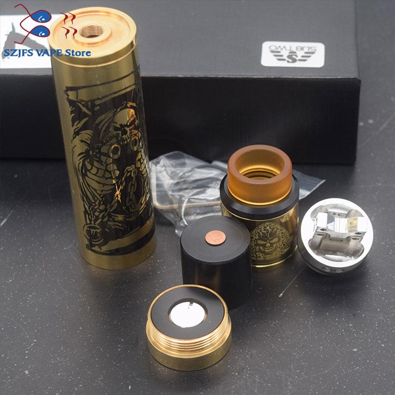 Brass Tower Mech Mod Kit 18650 Battery With RDA Tank Compatible Vape Vaporizer Vape Rta Rtda Atomizer  VS Sob Mechanical Mod Kit
