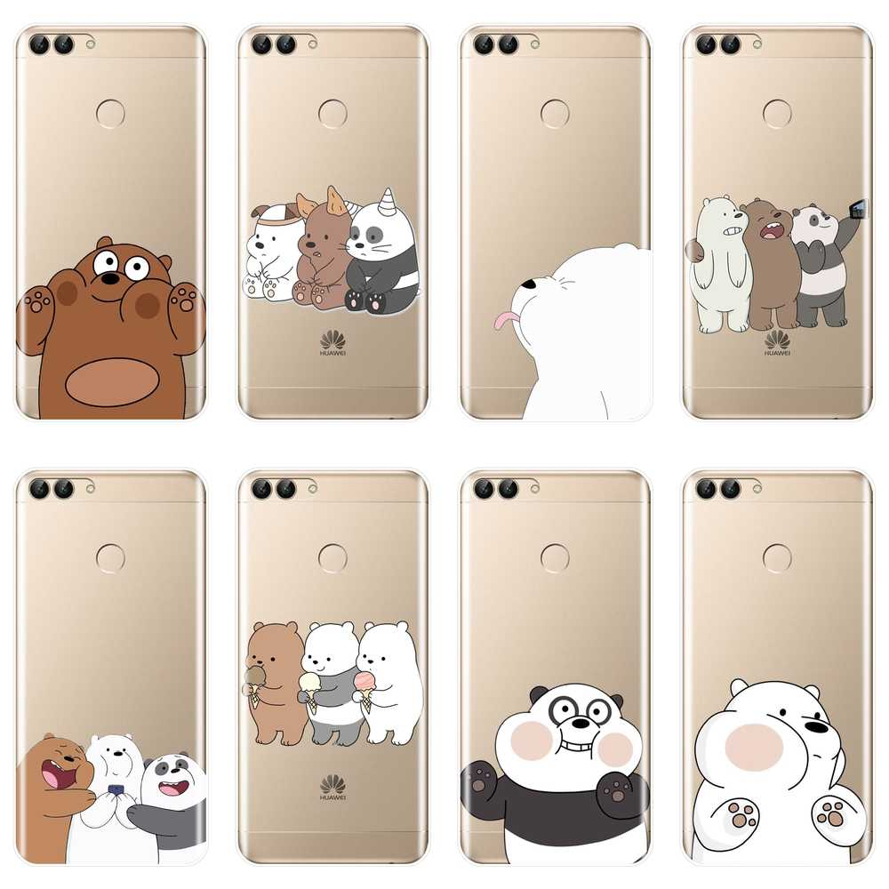 Funny Girl We Bare Bears Panda Back Cover For Huawei P20 P10 P8 Lite 2017 P Smart Plus Soft Silicone Phone Case For P9 Lite Mini