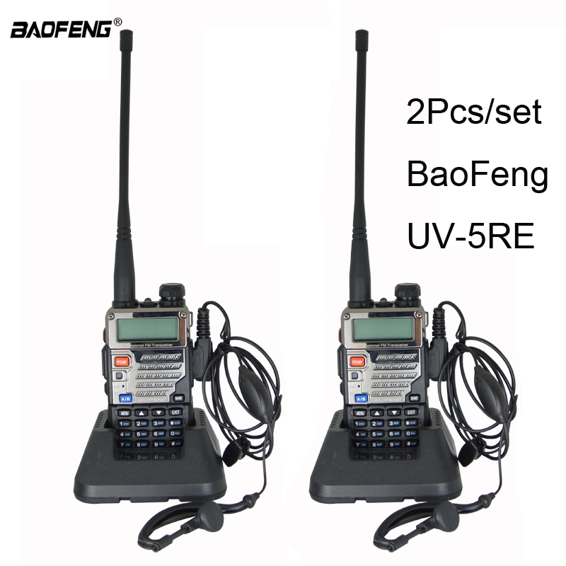 2 pz/lotto BaoFeng UV-5RE Walkie Talkie UV 5RE A due Vie CB ham Radio UV5RE Radio hotel caccia radio Fm trasmettitore