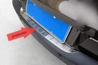 Trunk Scuff PlateFor Volkswagen VW Tiguan 2009 2013 2014 2015 Rear Bumper Protector Rear Guard Car
