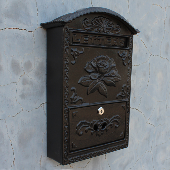 Mailbox Mail Post Letter Box Antique Vintage Decor Wall Mount Creative Package