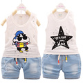 Newborn Baby Girl Clothes Set Summer 2017 Infant  Boy Clothing Cotton Outfits Suit New Born Sets Sleeveless pullover+Shorts 2Pcs