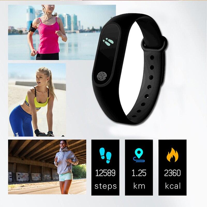 M2 Sport Bracelet Smart Band Heart Rate Watch Men Women Smartwatch For Android IOS Fitness Tracker M2 Sport Bracelet Smart Band Heart Rate Watch Men Women Smartwatch For Android IOS Fitness Tracker Electronics Smart Clock