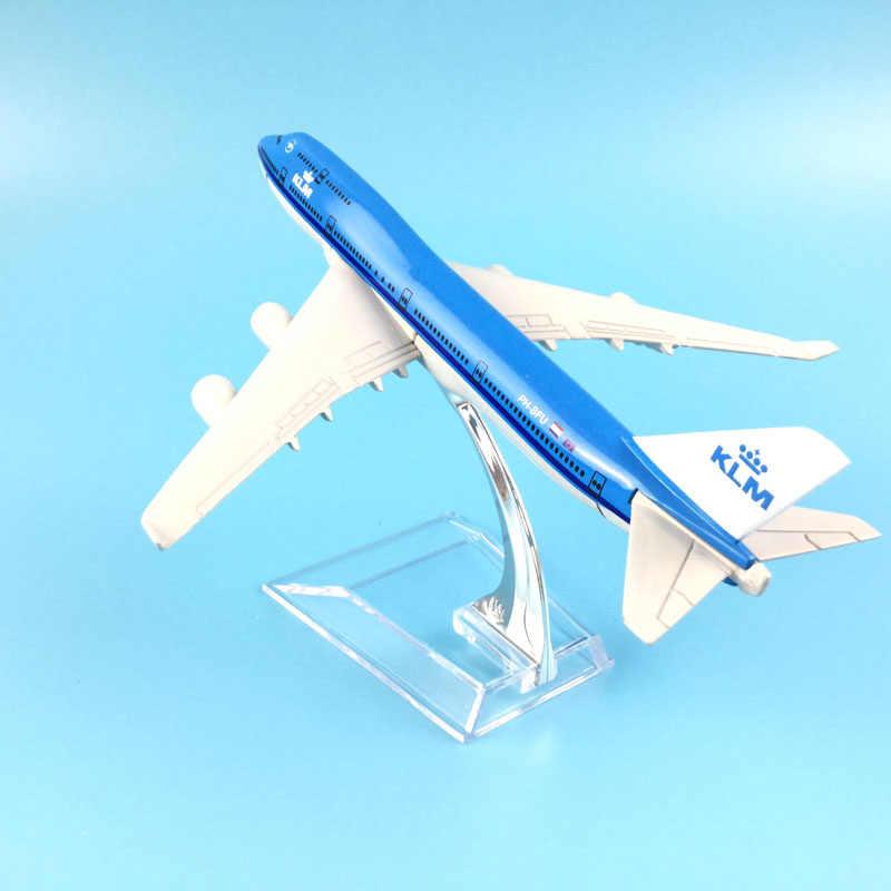Envío Gratis 16 CM 747 KLM aleación de METAL modelo avión juguete avión regalo de cumpleaños