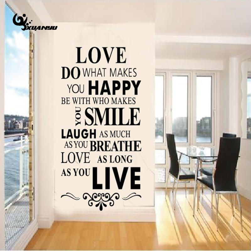 Online Shop PVC Wall Sticker Love Happy Smile English Letter Stickers  Poster Sofa Background Stickers For Kids Room Home Decal F | Aliexpress  Mobile