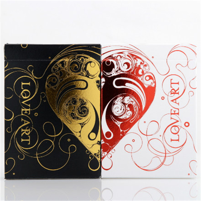 Set of 2 Love Art Deck Gold & Red Limited Edition Playing Card Decks New Valentine's Day Cards Gifts Magic Tricks  Toys 81248