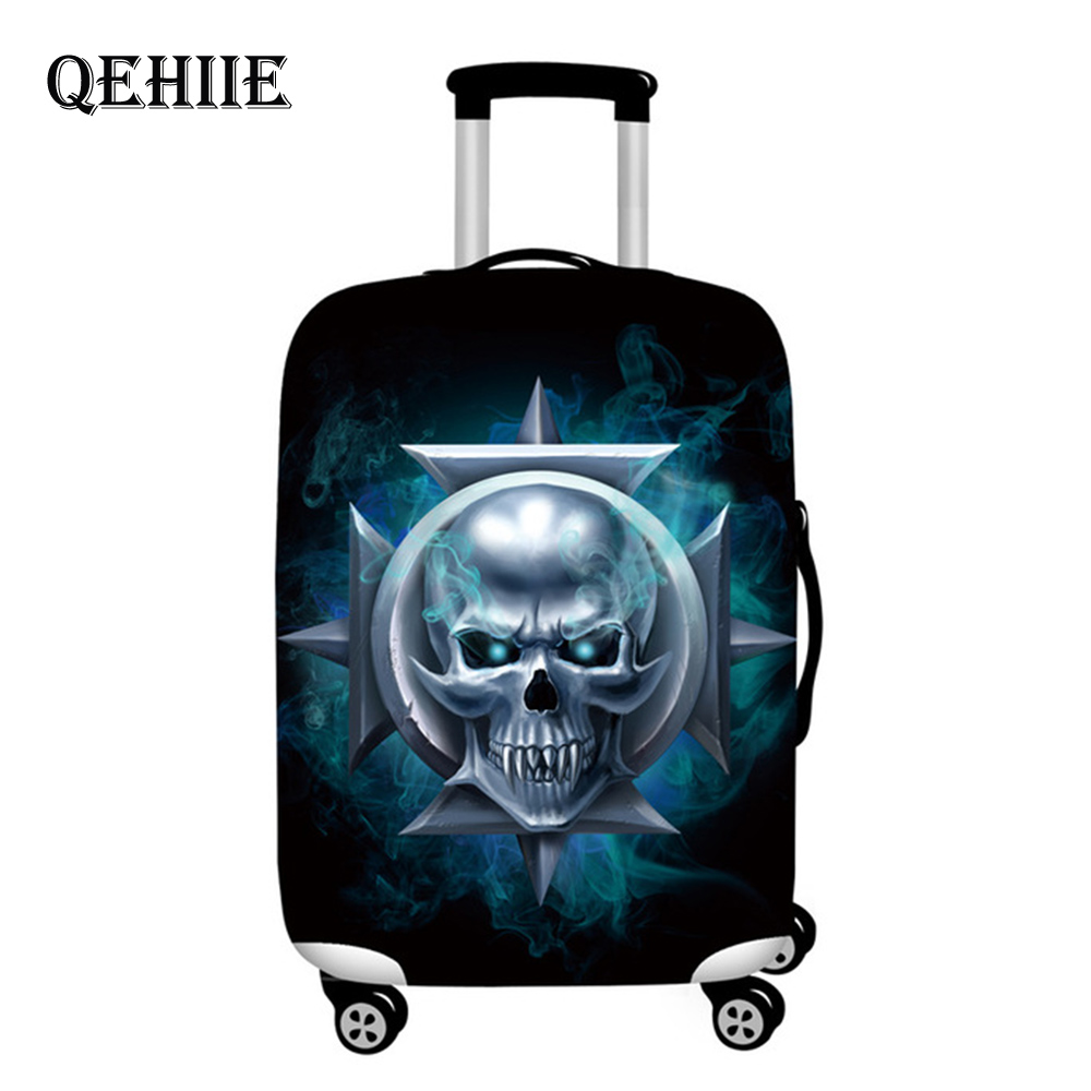 Horror Skull Travel Accessories Fashion 3D Printed Luggage Elastic Cover High Quality Thicker Cover Travel Case 20/24/28/30 Inch