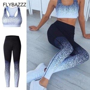 Conjunto degradê esportes fitness sutiã + calça, conjunto 2 pçs alta elástico leggings esportes yoga roupas esportivas