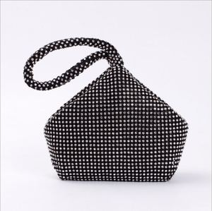 Image 3 - 4 Colors Soft Beaded Women Evening Bag Cover Open Style Lady Wedding Triangle Glitter Handbag Purse Bag For New Year Gift Clutch