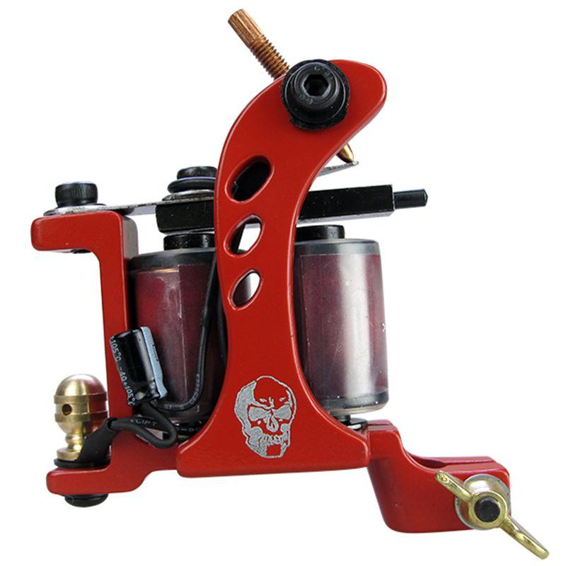 Solong Tattoo Complete Tattoo Kits 2 Machine Gun Beginner Tattoo Set 14 Inks Needle Grips Foot Petal Power Supply TK203-35