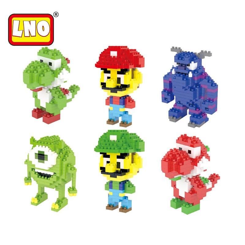 ᗚLno nano bloques caliente Super Mario Yoshi figuras de acción ...