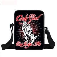 Mini Messenger Bag Cool Bull Paint Splatter Urban Children Crossbody BagsMen Women Handbag Teenage Hipster Hip