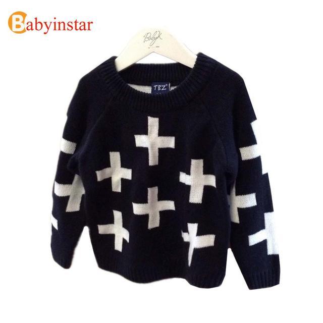 Exclusivo Personalizado 2016 Bebé Niño Niña Primavera Suéter de Invierno Cálido Algodón de Los Niños Vestidos de Manga Larga Suéter de Los Niños