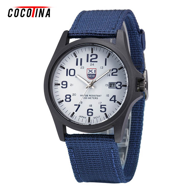COCOTINA Mens Military Quartz Army Watch Black Dial Date&Week Luxury Sport Infantry Lume WT0228 2017 new arrival hot mens military quartz army watch black date luxury sport luminous wrist watch 5 2