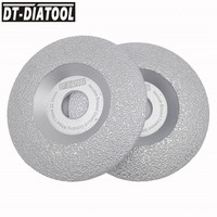DT DIATOOL 2pcs Pk Dia 4 4 5 5 100mm 115mm 125mm Vacuum Brazed Diamond Wheel