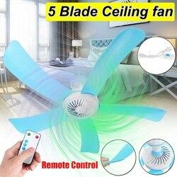 Energooszczędny sufitowy Mini wentylator przeciw komarom wiszący wentylator klimatyzator Cooler z RC 3 metrowy przewód na lato 5 ostrzy