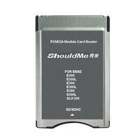 SD à PCMCIA lecteur de carte adaptateur pour Benz MP3 support de la mémoire 32 GB 5 pcs/lot livraison gratuite