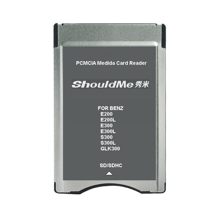 SD a PCMCIA adaptador de lector de tarjetas para Benz MP3 soporte de memoria de 32 GB 5 unids/lote envío gratis