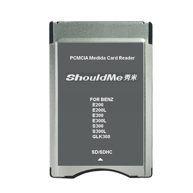 SD To PCMCIA Card Reader Adapter For Benz MP3 Memory Support 32GB 5pcs/lot Free Shipping