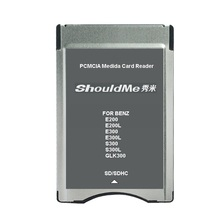 SD adaptador de tarjeta PCMCIA adaptador de lector para el Benz MP3 soporte de memoria 32 GB 5 unids/lote envío gratis