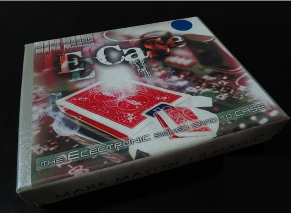 E-Case (Dvd + Gimmick) - Signed Card Through Case,Electronic,Magic Tricks,Mentalism,Illusions,Stage Magie,Magia Toys Classic