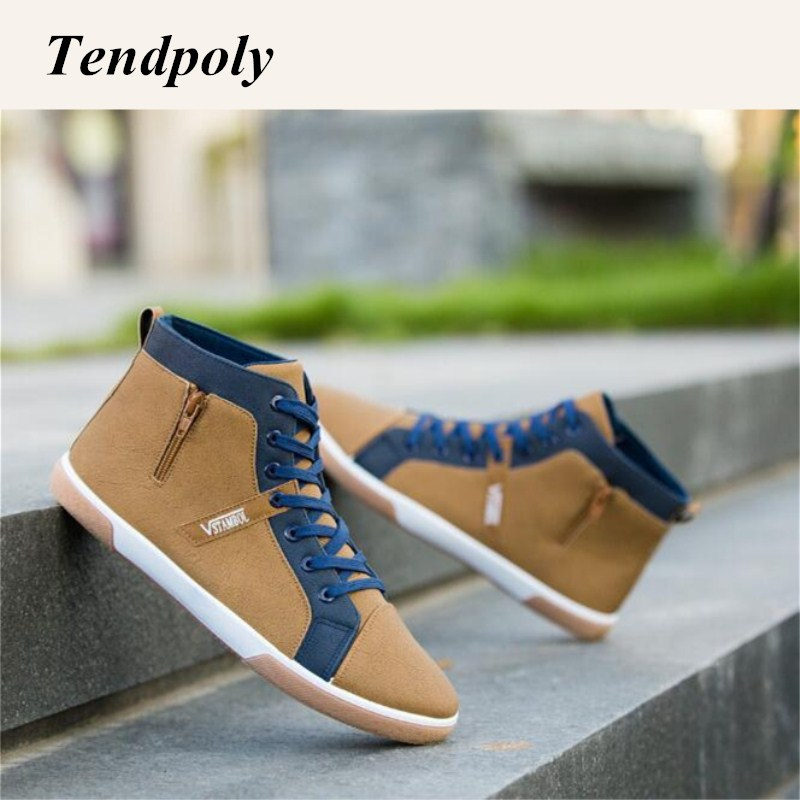 New large size British style fashion men's boots autumn winter lace with high-heeled wild fashion shoes popular classic casual