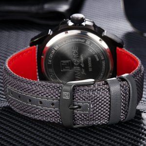 Image 5 - NAVIFORCE Top Marke Militär Uhren Männer Mode Casual Leinwand Leder Sport Quarz Armbanduhren Männlich Uhr Relogio Masculino