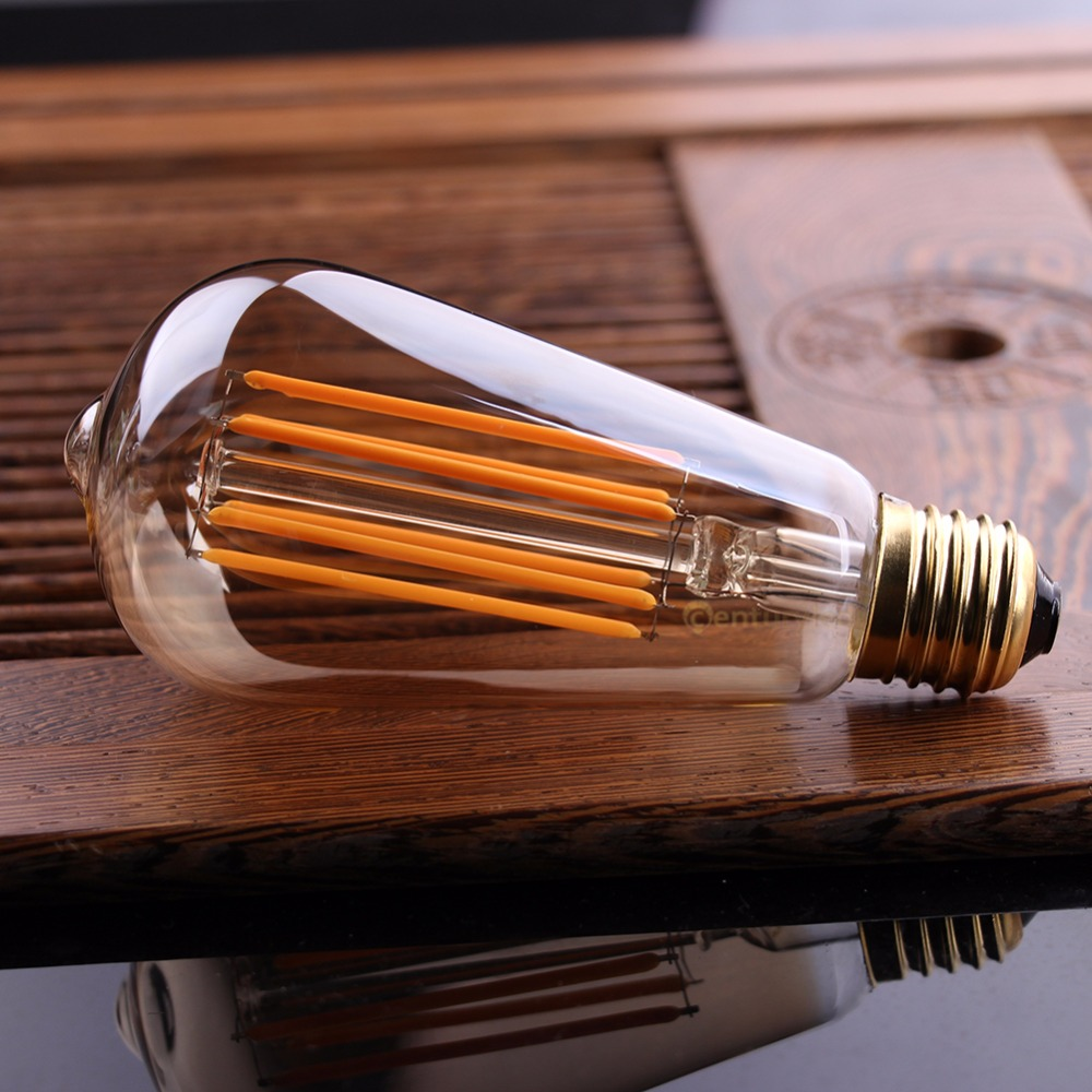 Lâmpadas Led e Tubos vindima levou filamento da lâmpada, Shape : Edison St64 Led Filament Bulb